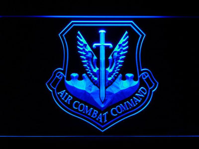 US Air Force Air Combat Command LED Neon Sign - Blue - SafeSpecial