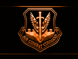US Air Force Air Combat Command LED Neon Sign - Orange - SafeSpecial