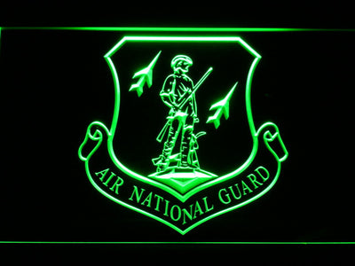 US Air Force Air National Guard Emblem LED Neon Sign - Green - SafeSpecial