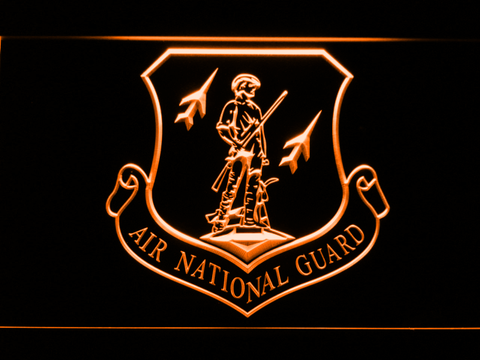 US Air Force Air National Guard Emblem LED Neon Sign - Orange - SafeSpecial