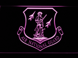 US Air Force Air National Guard Emblem LED Neon Sign - Purple - SafeSpecial