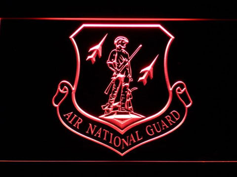 US Air Force Air National Guard Emblem LED Neon Sign - Red - SafeSpecial
