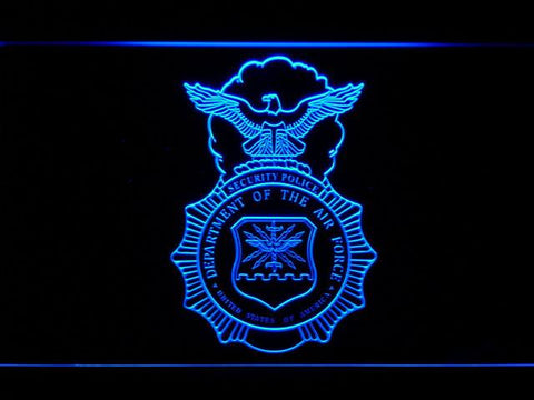 Image of US Air Force Security Forces LED Neon Sign - Blue - SafeSpecial