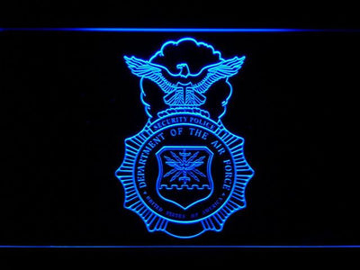 US Air Force Security Forces LED Neon Sign - Blue - SafeSpecial