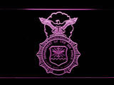 US Air Force Security Forces LED Neon Sign - Purple - SafeSpecial