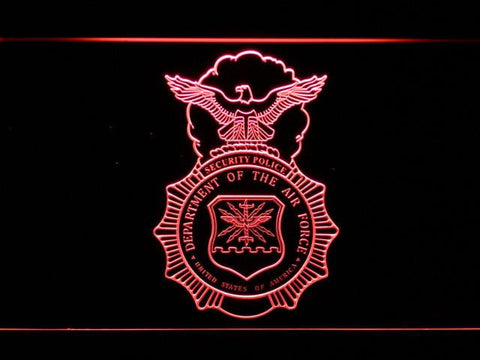 Image of US Air Force Security Forces LED Neon Sign - Red - SafeSpecial
