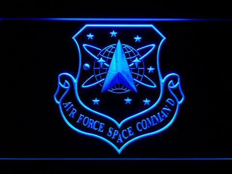 Image of US Air Force Space Command LED Neon Sign - Blue - SafeSpecial