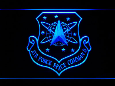 US Air Force Space Command LED Neon Sign - Blue - SafeSpecial