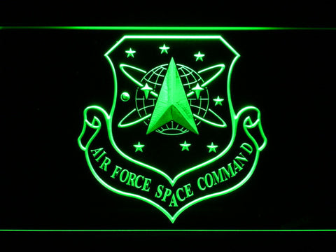 Image of US Air Force Space Command LED Neon Sign - Green - SafeSpecial