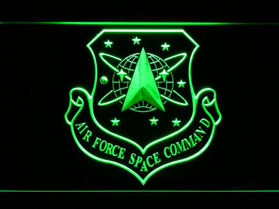 US Air Force Space Command LED Neon Sign - Green - SafeSpecial