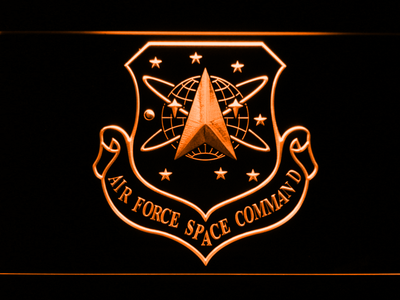 US Air Force Space Command LED Neon Sign - Orange - SafeSpecial