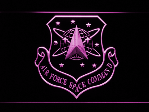 Image of US Air Force Space Command LED Neon Sign - Purple - SafeSpecial