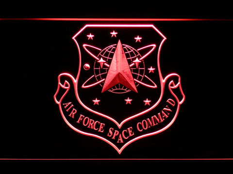 Image of US Air Force Space Command LED Neon Sign - Red - SafeSpecial