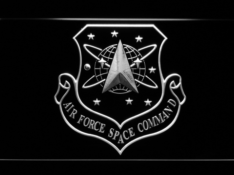Image of US Air Force Space Command LED Neon Sign - White - SafeSpecial