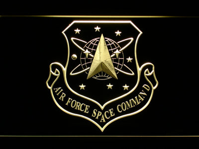 US Air Force Space Command LED Neon Sign - Yellow - SafeSpecial
