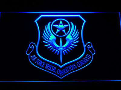 US Air Force Special Operations Command LED Neon Sign - Blue - SafeSpecial