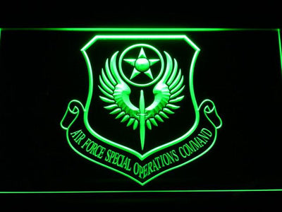 US Air Force Special Operations Command LED Neon Sign - Green - SafeSpecial