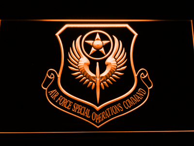 US Air Force Special Operations Command LED Neon Sign - Orange - SafeSpecial