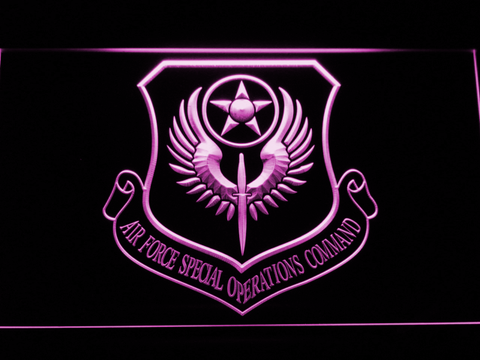 US Air Force Special Operations Command LED Neon Sign - Purple - SafeSpecial