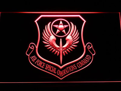 US Air Force Special Operations Command LED Neon Sign - Red - SafeSpecial