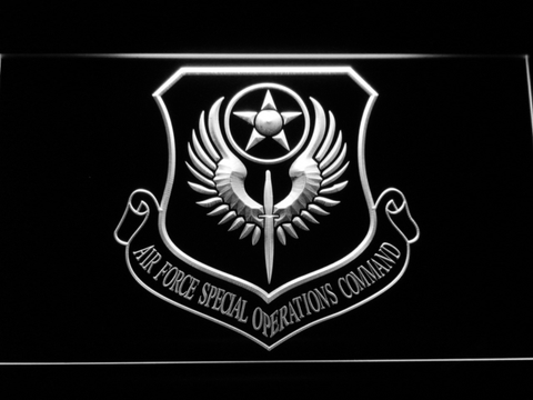US Air Force Special Operations Command LED Neon Sign - White - SafeSpecial