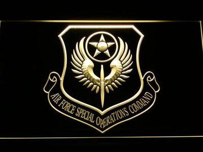 US Air Force Special Operations Command LED Neon Sign - Yellow - SafeSpecial