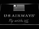 US Airways Fly With US LED Neon Sign - White - SafeSpecial