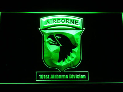 US Army 101st Airborne Division LED Neon Sign - Green - SafeSpecial