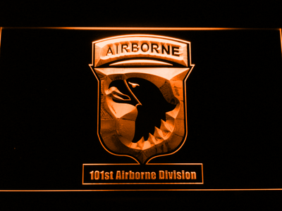 US Army 101st Airborne Division LED Neon Sign - Orange - SafeSpecial