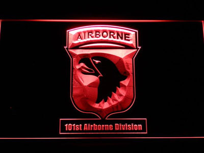 US Army 101st Airborne Division LED Neon Sign - Red - SafeSpecial