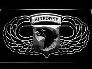 US Army 101st Airborne Division Wings LED Neon Sign - White - SafeSpecial