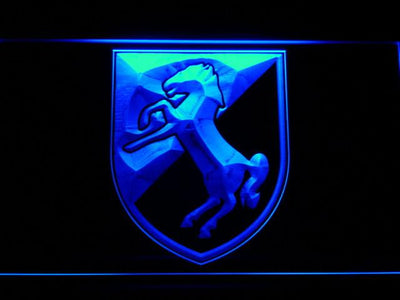 US Army 11th Armored Cavalry Regiment Blackhorse LED Neon Sign - Blue - SafeSpecial