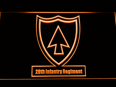 US Army 26th Infantry Regiment LED Neon Sign - Orange - SafeSpecial