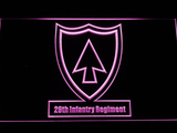 US Army 26th Infantry Regiment LED Neon Sign - Purple - SafeSpecial