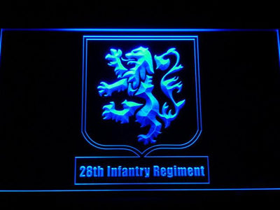 US Army 28th Infantry Regiment LED Neon Sign - Blue - SafeSpecial