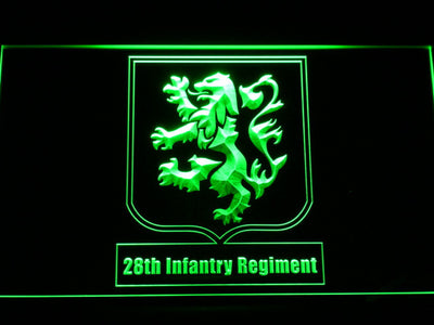 US Army 28th Infantry Regiment LED Neon Sign - Green - SafeSpecial