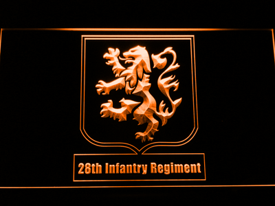 US Army 28th Infantry Regiment LED Neon Sign - Orange - SafeSpecial