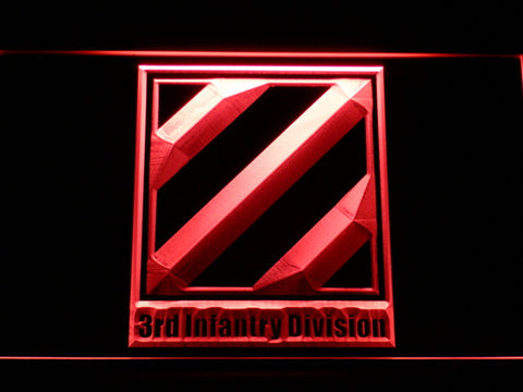 US Army 3rd Third Infantry Division LED Neon Sign - Red - SafeSpecial