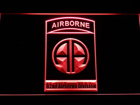 US Army 82nd Airborne Division LED Neon Sign - Red - SafeSpecial