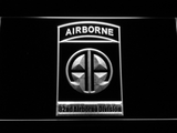 US Army 82nd Airborne Division LED Neon Sign - White - SafeSpecial