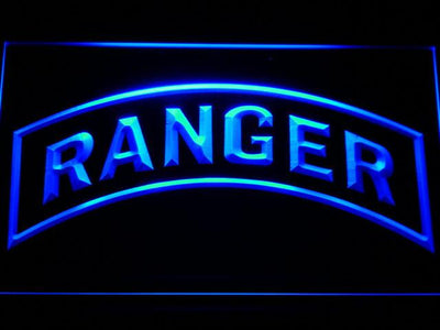 US Army Ranger LED Neon Sign - Blue - SafeSpecial
