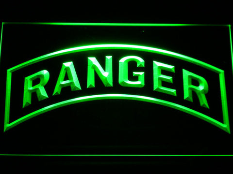 Image of US Army Ranger LED Neon Sign - Green - SafeSpecial