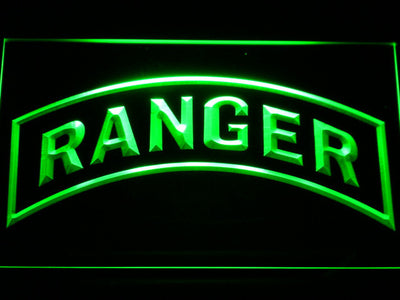 US Army Ranger LED Neon Sign - Green - SafeSpecial