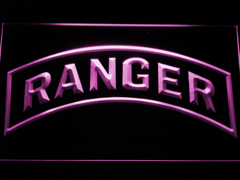 Image of US Army Ranger LED Neon Sign - Purple - SafeSpecial