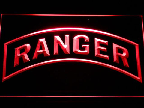 Image of US Army Ranger LED Neon Sign - Red - SafeSpecial