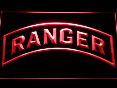 US Army Ranger LED Neon Sign - Red - SafeSpecial