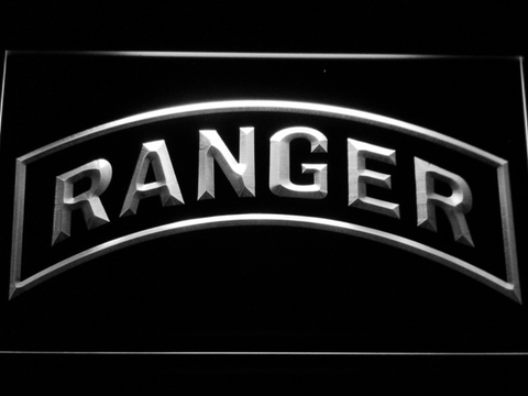 Image of US Army Ranger LED Neon Sign - White - SafeSpecial