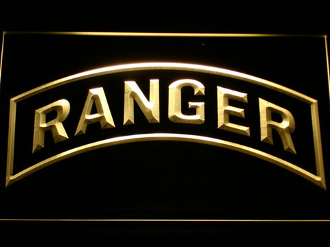 Image of US Army Ranger LED Neon Sign - Yellow - SafeSpecial