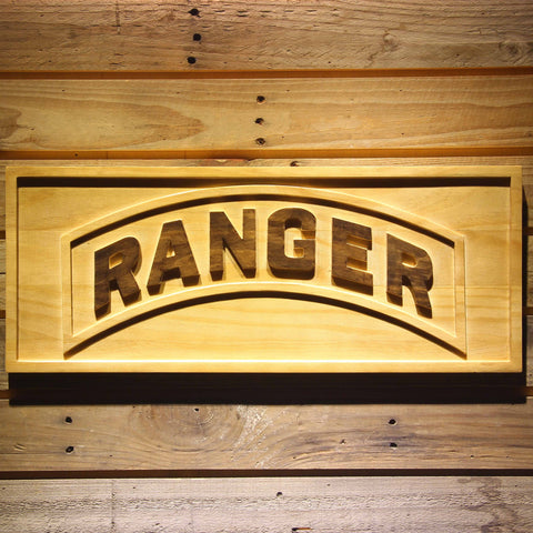 US Army Ranger Wooden Sign - Small - SafeSpecial