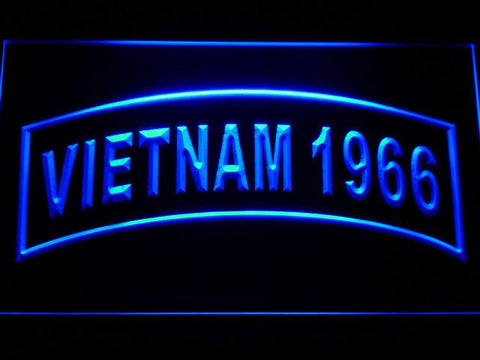Image of US Army Vietnam 1966 LED Neon Sign - Blue - SafeSpecial